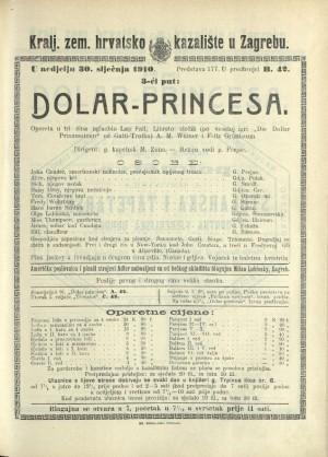Dolar-princesa Opereta u tri čina / Prema veseloj igri Gatti-Trotha Die Dollarprinzessin  =  Princesa dolara; Dolar-princeza; Die Dollarprinzessin