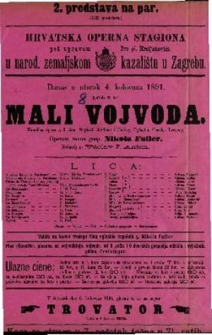 Mali vojvoda Komična opera u 3 čina