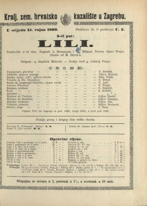 Lili Vaudeville u 3 čina
