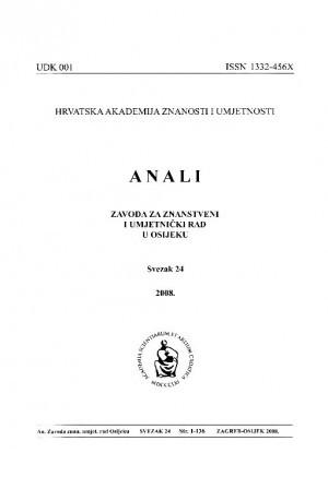 Sv. 24 (2008) : Anali Zavoda za znanstveni i umjetnički rad u Osijeku
