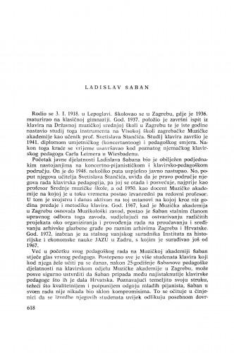 Ladislav Šaban : [biografije novih članova Akademije]