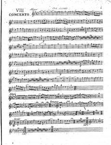 VIII concerto : oboe secondo