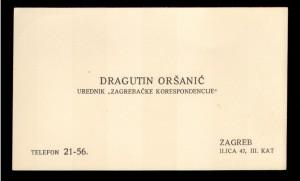 Dragutin Oršanić Urednik