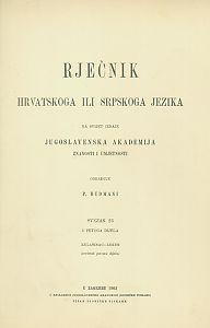 Sv. 23 : Kulašinac-leken : Rječnik hrvatskoga ili srpskoga jezika