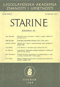 Knj. 59(1984) : Starine