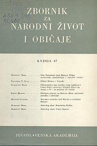Knj. 47. (1977) : Zbornik za narodni život i običaje