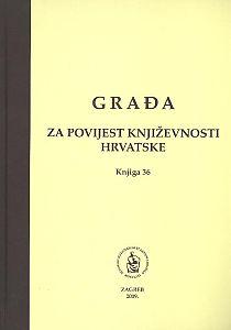 Knj. 36(2009) : Šest drama bez naslova : Građa za povijest književnosti hrvatske