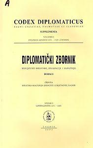 Sv. II : Listine godina 1271-1309 : Diplomatički zbornik Kraljevine Hrvatske, Dalmacije i Slavonije