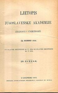 Za godinu 1914. Sv. 29 : Ljetopis