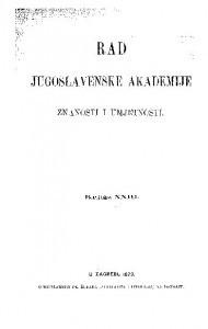 Knj. 23(1873) : RAD