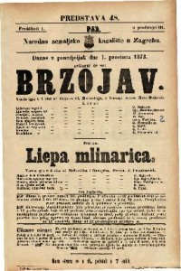 Brzojav Vesela igra u 1 činu / od Gustava Pf. Moravskoga