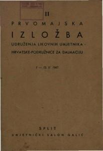 II Prvomajska izložba Udruženja likovnih umjetnika Hrvatske - podružnice za Dalmaciju