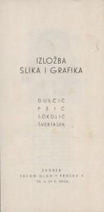 Izložba slika i grafika - Dulčić, Peić, Sokolić, Švertasek