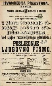 Posljednje ljubovno pismo vesela igra u 3 čina / od Victoriena Sardou-a
