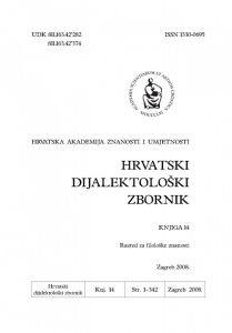 Knj. 14(2008) : Hrvatski dijalektološki zbornik