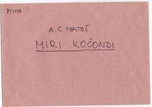 Dopisnica upućena Miri Kočondi