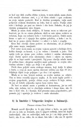 Iz Imotske i Vrhgorske krajine u Dalmaciji : ženidbeni običaji : Zbornik za narodni život i običaje