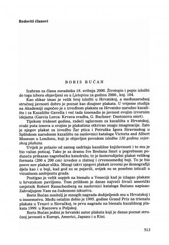 Boris Bućan : Ljetopis