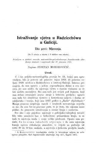 Istraživanje vjetra u Radziechówu u Galiciji.