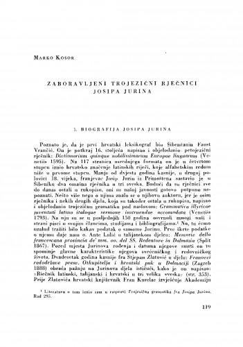 Zaboravljeni trojezični rječnici Josipa Jurina