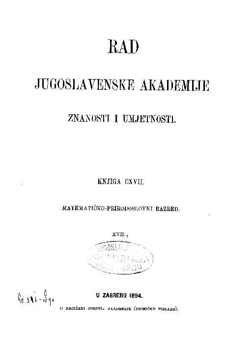 Knj. 17/2(1894) : RAD