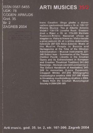 God. 35(2004), br. 2 : Arti musices