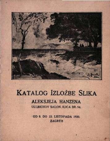 Katalog izložbe slika Aleksjeja Hanzena