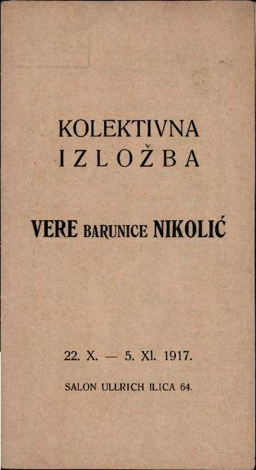 Kolektivna izložba Vere barunice Nikolić