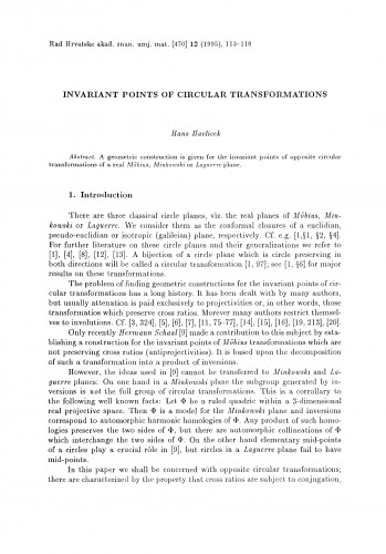 Invariant points of circural transformations
