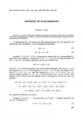 Geometry of IM-quasigroups