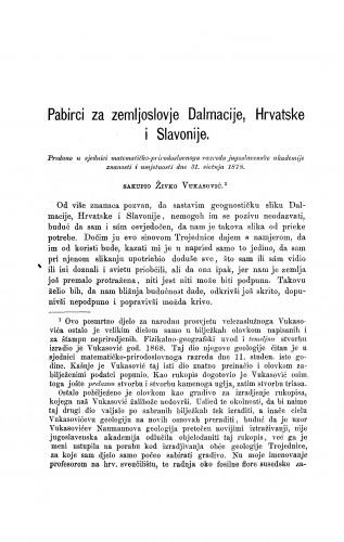 Pabirci za zemljoslovje Dalmacije, Hrvatske i Slavonije : RAD