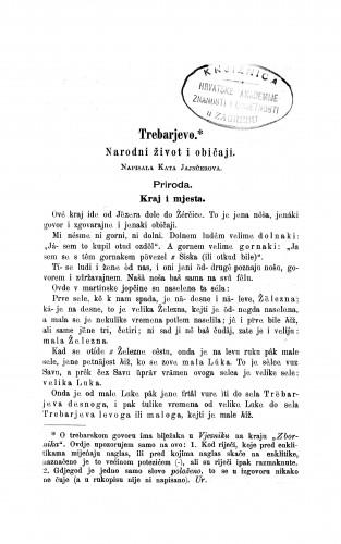 Trebarjevo : narodni život i običaji : Zbornik za narodni život i običaje