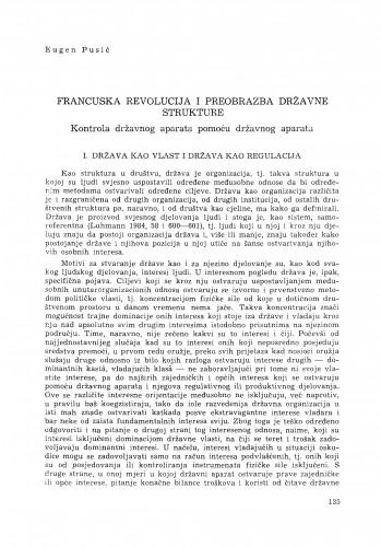 Francuska revolucija i preobrazba državne strukture