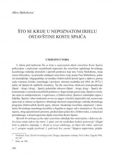 Što se krije u nepoznatom dijelu ostavštine Koste Spaića : Krležini dani u Osijeku