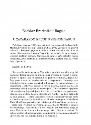 U začaranom krugu s Vesnom Parun : Forum : mjesečnik Razreda za književnost Hrvatske akademije znanosti i umjetnosti.