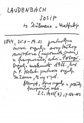 Laudenbach Josip iz Dülmena u Westfaliji