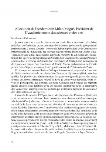 Uvodni govor akademika Milana Moguša, predsjednika Hrvatske akademije znanosti i umjetnosti