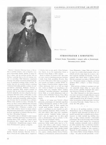 Strossmayer i Simonetti : Bulletin Instituta za likovne umjetnosti Jugoslavenske akademije znanosti i umjetnosti