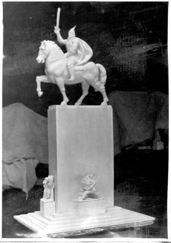 Radauš, Vanja (1906-1975) : Skica za spomenik Skender-begu u Tirani