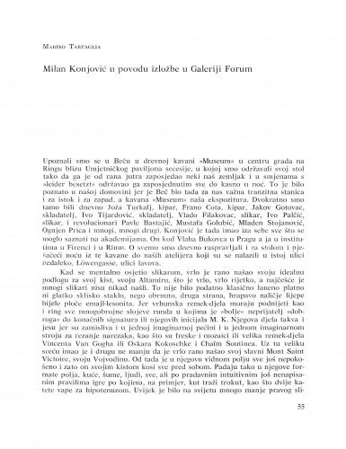 Milan Konjović u povodu izložbe u Galeriji Forum : Bulletin Razreda za likovne umjetnosti Hrvatske akademije znanosti i umjetnosti