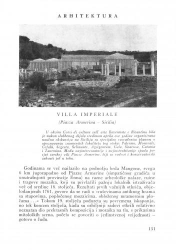 Vila imperiale : Bulletin Zavoda za likovne umjetnosti Jugoslavenske akademije znanosti i umjetnosti