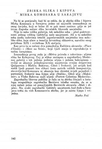 Zbirka slika i kipova Mirka Komosara u Sarajevu : Bulletin Instituta za likovne umjetnosti Jugoslavenske akademije znanosti i umjetnosti