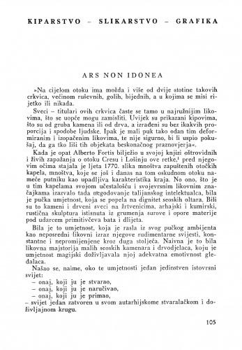 Ars non idonea : Bulletin Instituta za likovne umjetnosti Jugoslavenske akademije znanosti i umjetnosti