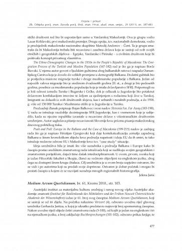 Medium Aevum Quotidianum, br. 61, Krems 2011. : [prikaz] : Zbornik Odsjeka za povijesne znanosti Zavoda za povijesne i društvene znanosti Hrvatske akademije znanosti i umjetnosti