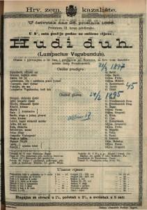Hudi duh (Lumpacius Vagabundus) Gluma s pjevanjem u tri čina i predigrom / od Nestroya