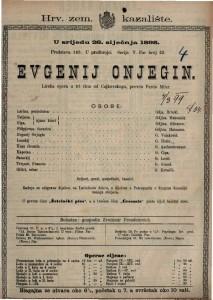 Evgenij Onjegin Lirska opereta u tri čina / od Čajkovskoga