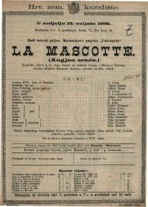 La Mascotte (Angjeo sreće) Komična opera u tri čina / Glazbu skladao Edmond Audran