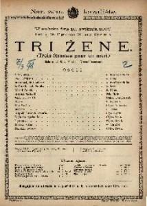 Tri žene Šala u tri čina / Napisao Grenet-Dancouert  =  Trois femmes pour un mari