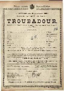 Troubadour Opera u 4 čina / Glazba od Josipa Verdia