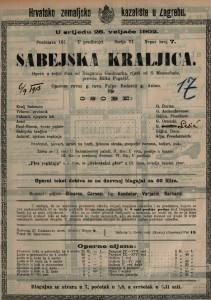 Sabejska kraljica : opera u četiri čina / od Dragutina Goldmarka